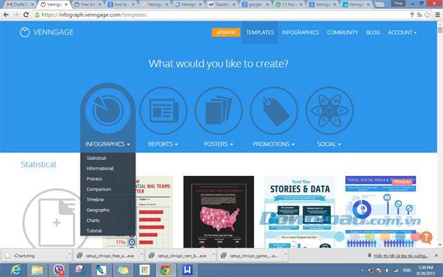 Venngage on Web2.1-オンライングラフィックソフトウェア