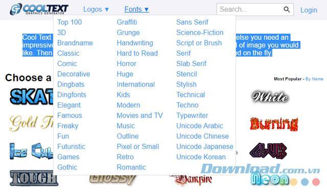 Cooler Text - Entwerfen Sie Logos, Symbole und einfache Grafiken im Web