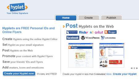 Hyplet - Créez une carte de visite en ligne