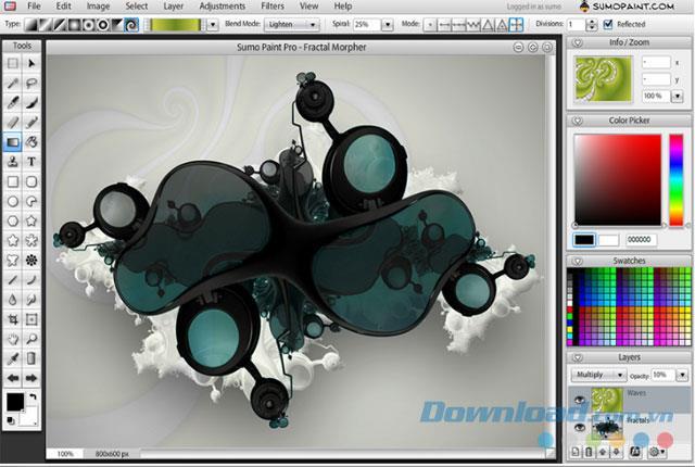 SumoPaint - Kostenlose Online-Fotobearbeitungssoftware