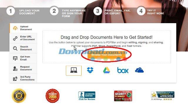 PDFfiller - Modifiez et partagez des documents PDF en ligne
