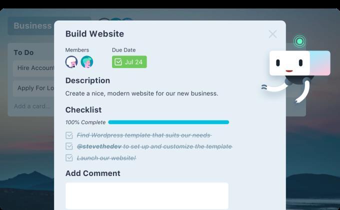 Trello Web - Online-Jobverwaltungstool