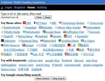 TidyRead - Schnelles Surfen im Internet auf Mobilgeräten