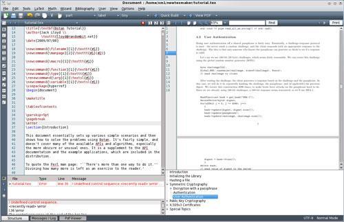 Texmaker for Linux(64ビット)5.0.4-LaTeX形式をサポートするテキスト編集ソフトウェア