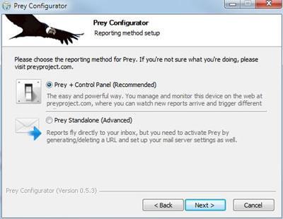 Prey for Linux - Software zum Auffinden verlorener Geräte