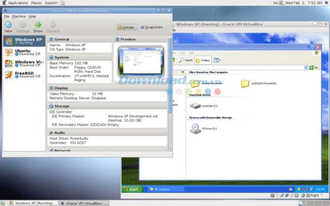 VirtualBox für Linux 6.1.8 - Software für virtuelle Maschinen für Linux