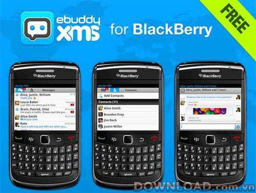 eBuddy XMS forBlackBerry-BlackBerry用の無料SMSソフトウェア