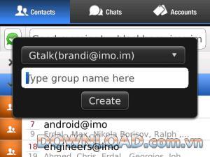 imo pour Blackberry - Discutez avec des amis sur le réseau de messagerie instantanée