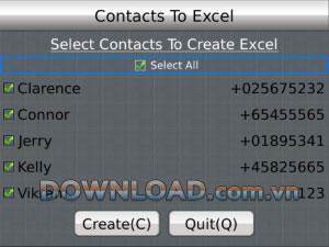 Kontakte in Excel für BlackBerry - Konvertieren Sie Kontakte in eine Excel-Datei