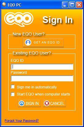 EQO pour Java pour Symbian - Discutez confortablement avec les comptes MSN, AIM, Yahoo ...