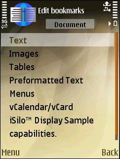 iSilo for S60 3rd Edition 6.10 - Créez un ebook pour votre téléphone
