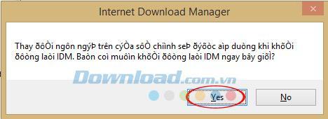 IDMのベトナム語インストール手順