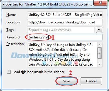Firefoxでブックマークキーワードを作成する方法