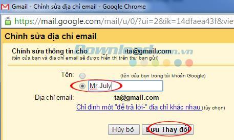 Gmailを送信するときに名前を変更する手順