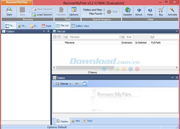 マイファイルの回復で削除されたデータを回復する