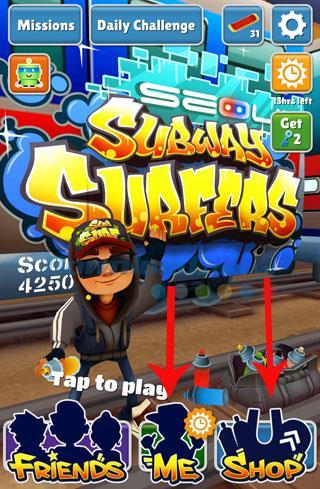 ゲームSubwaySurfersでオンラインストアを学ぶ