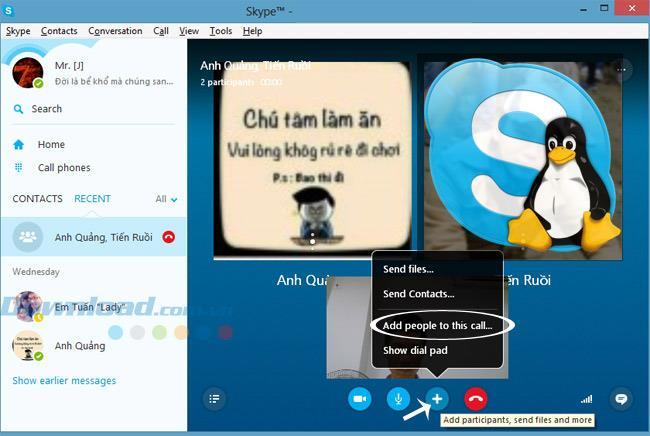 Comment passer un appel de groupe dans Skype