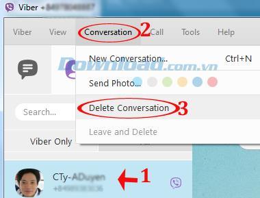 Anweisungen zum Löschen des Chat-Verlaufs auf dem Computer Viber