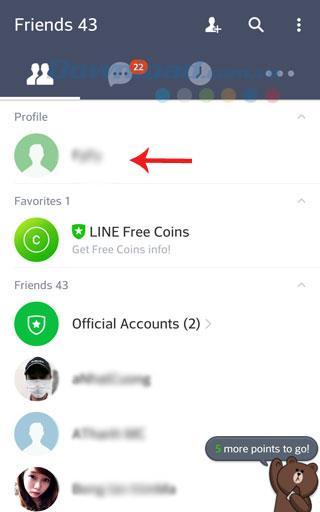 Anweisungen zum Registrieren Ihres mobilen Kontos LINE