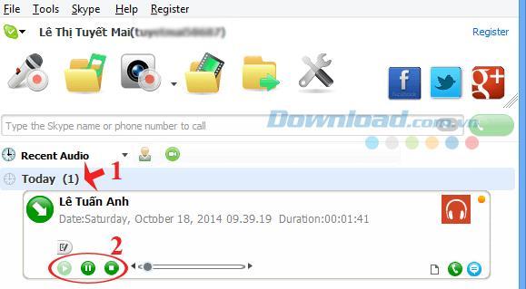 無料のSkype通話録音ソフトウェア