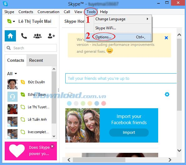 Skypeのグループでメッセージを受信しない問題を修正