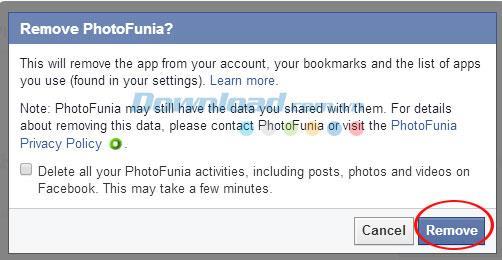 Facebookから有害で危険なアプリを削除する