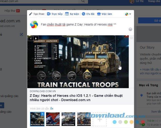 Anzeigen von Links und Miniaturansichten beim Teilen von Artikeln auf Facebook