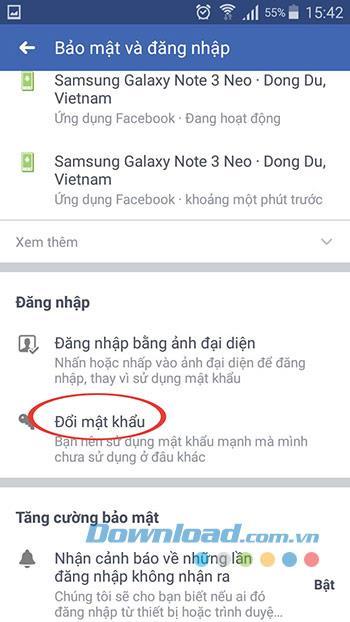 So ändern Sie ein Facebook-Passwort auf einem Telefon