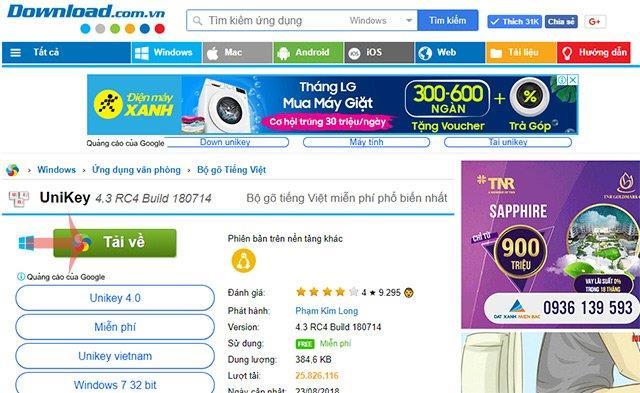 Laden Sie Unikey unter Windows 10, 8, 7, XP herunter und installieren Sie es, um Vietnamesisch einzugeben