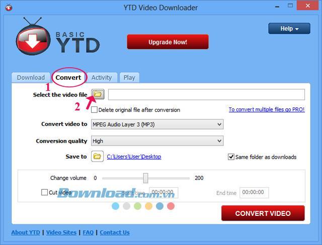Guide pour convertir une vidéo avec YTD Video Downloader