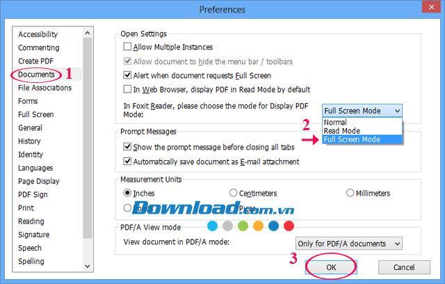 So stellen Sie Foxit Reader so ein, dass PDF-Dateien immer im Vollbildmodus geöffnet werden