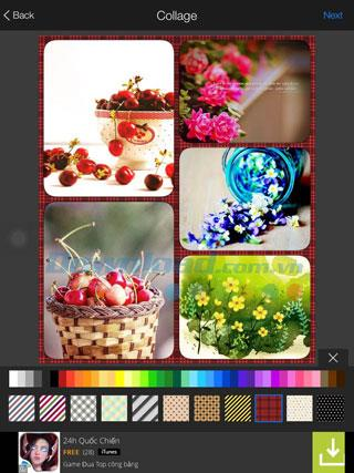 Instructions pour créer des collages sur FotoRus