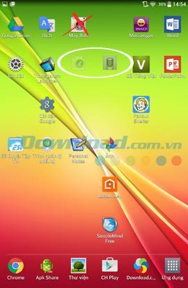 Android携帯で透明なアイコンを作成するための手順