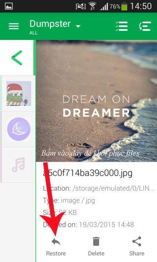 Gelöschte Dateien auf Android wiederherstellen