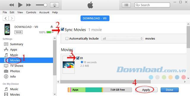 Instructions pour copier une vidéo d'un ordinateur vers un iPhone, un iPad