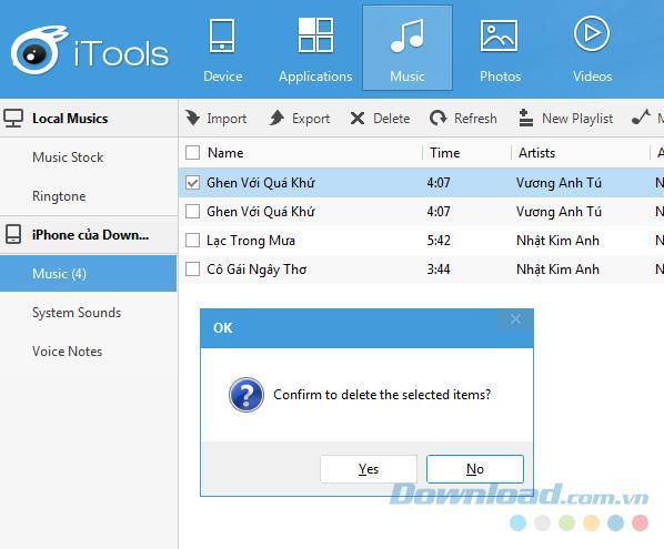 Anweisungen zum Löschen von Musik auf dem iPhone mit iTunes