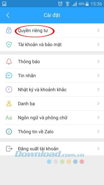 Instructions sur la façon d'empêcher des étrangers de consulter des informations personnelles sur Zalo