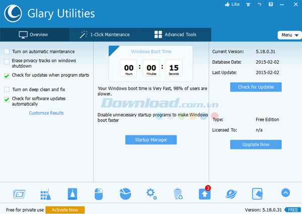 Nettoyez votre système avec Glary Utilities