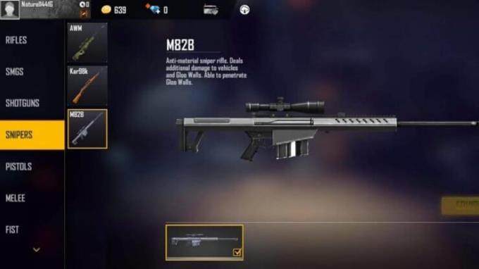 Free Fire: M82B قدرتمندترین اسلحه در بازی است؟