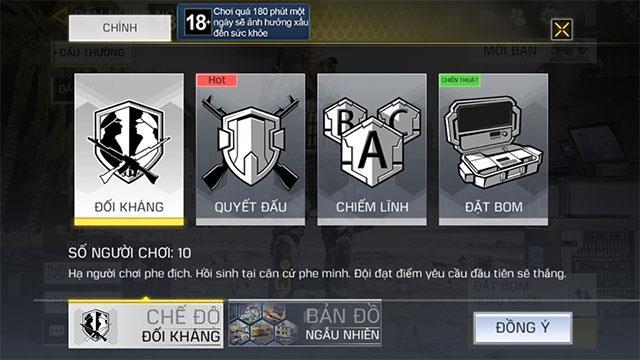 Call of Duty Mobile VN: نحوه بازی در حالت مبارزه