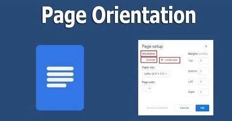 نحوه تغییر جهت صفحه در Google Docs به حالت افقی