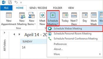 برنامه ریزی جلسات ، یادگیری آنلاین در جلسات Webex
