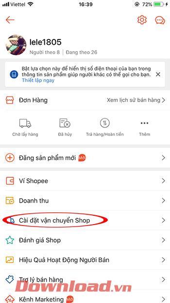 Как настроить отгрузочную единицу на Shopee
