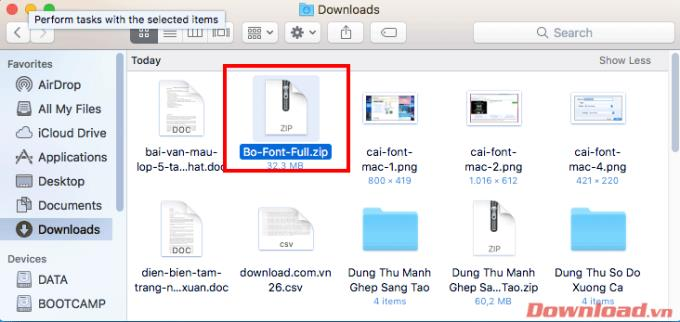 Instructions for installing fonts on Mac