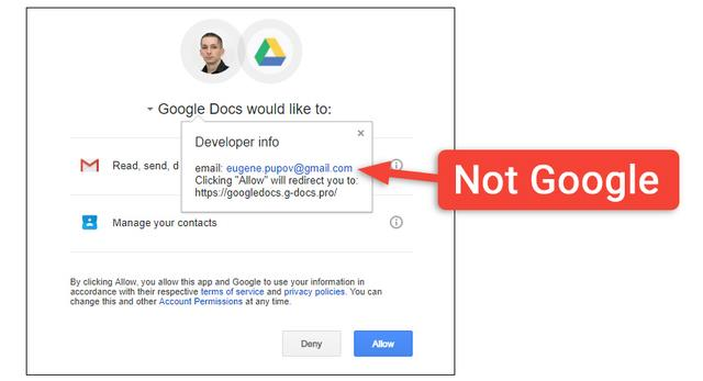 Google Docs becomes an effective tool for hackers, Google can't sit and watch