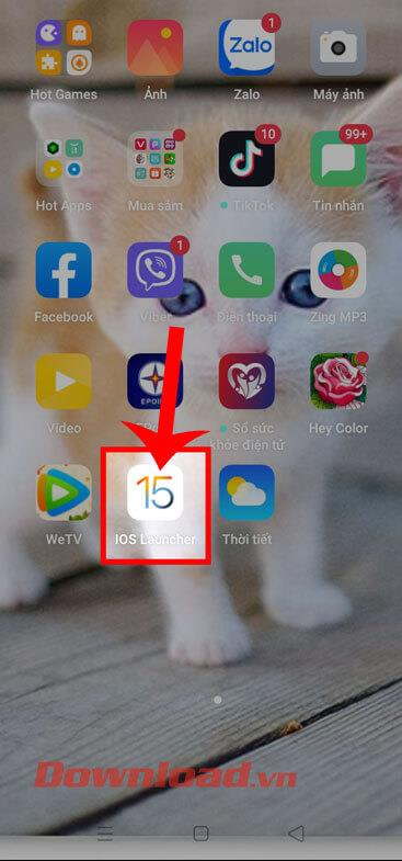 Instructions for using iOS 15 Launcher on Android