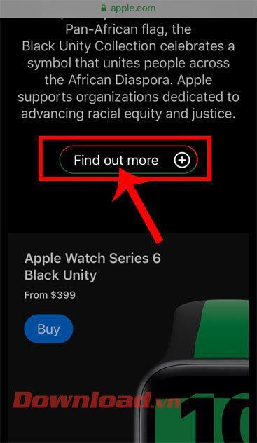 Instructions to download the Black Unity wallpaper set on iPhone