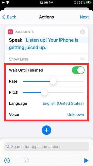 iOS 14: چگونه سیری را خودکار کنیم تا اعلان موفقیت آمیز شارژ باتری را نشان دهیم