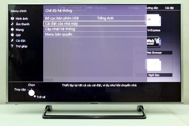 Zurücksetzen des Panasonic-Fernsehgeräts auf die Werkseinstellungen