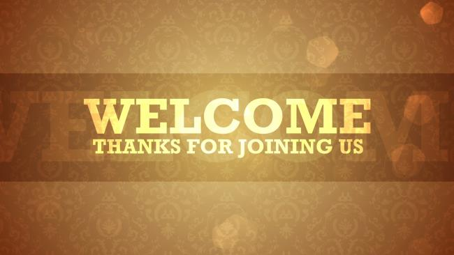 Sambutan Imej Selamat Datang (halo) - Tayangan slaid PowerPoint bermula